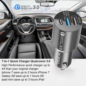 Caricabatterie 3 USB da auto per smartphone